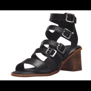 EUC Shellys London Leather Strappy Sandal Heels